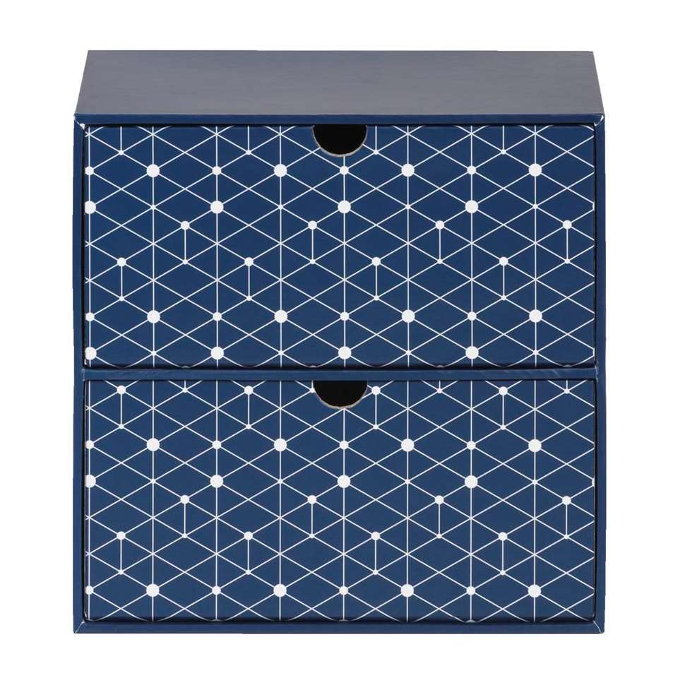 Ladekastje Tomi – blauw – 20x15x20 cm – Leen Bakker
