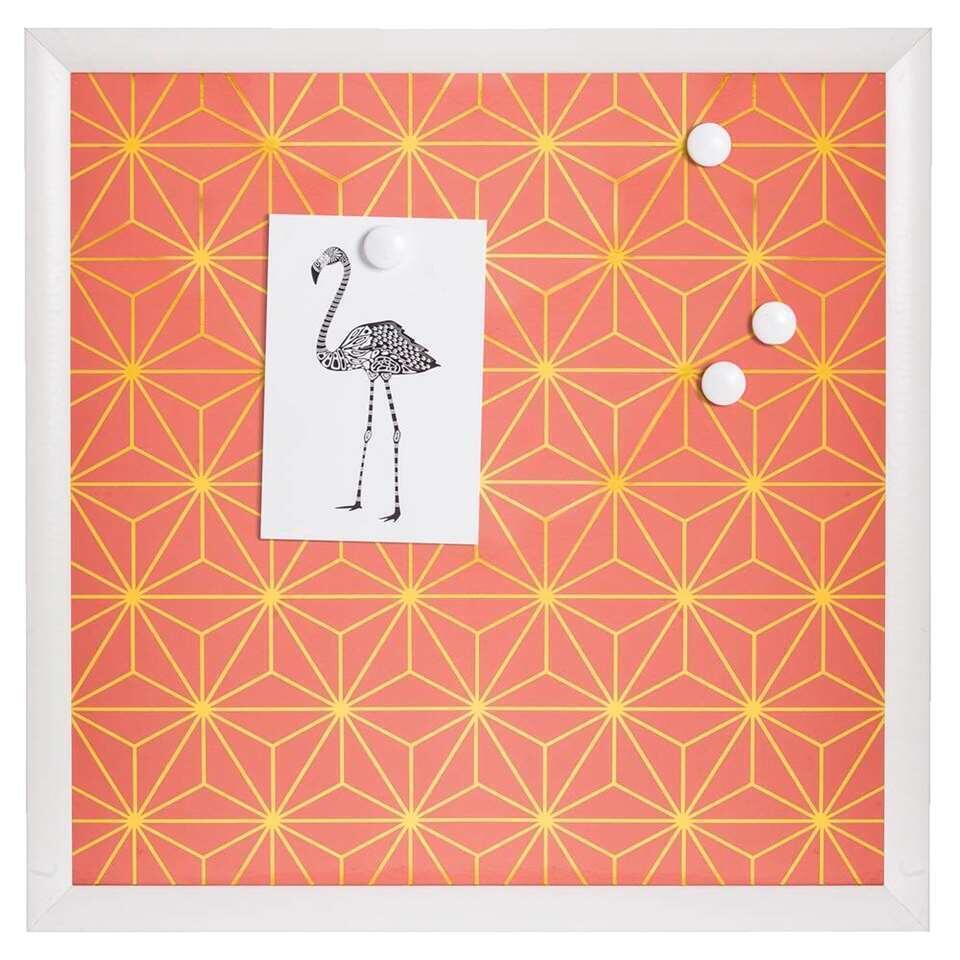 Memobord Florence - koraal - 40x40x15 cm - Leen Bakker