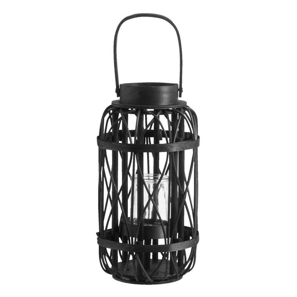 Lantaarn Pim – zwart – Ø19,5×36,5 cm – Leen Bakker