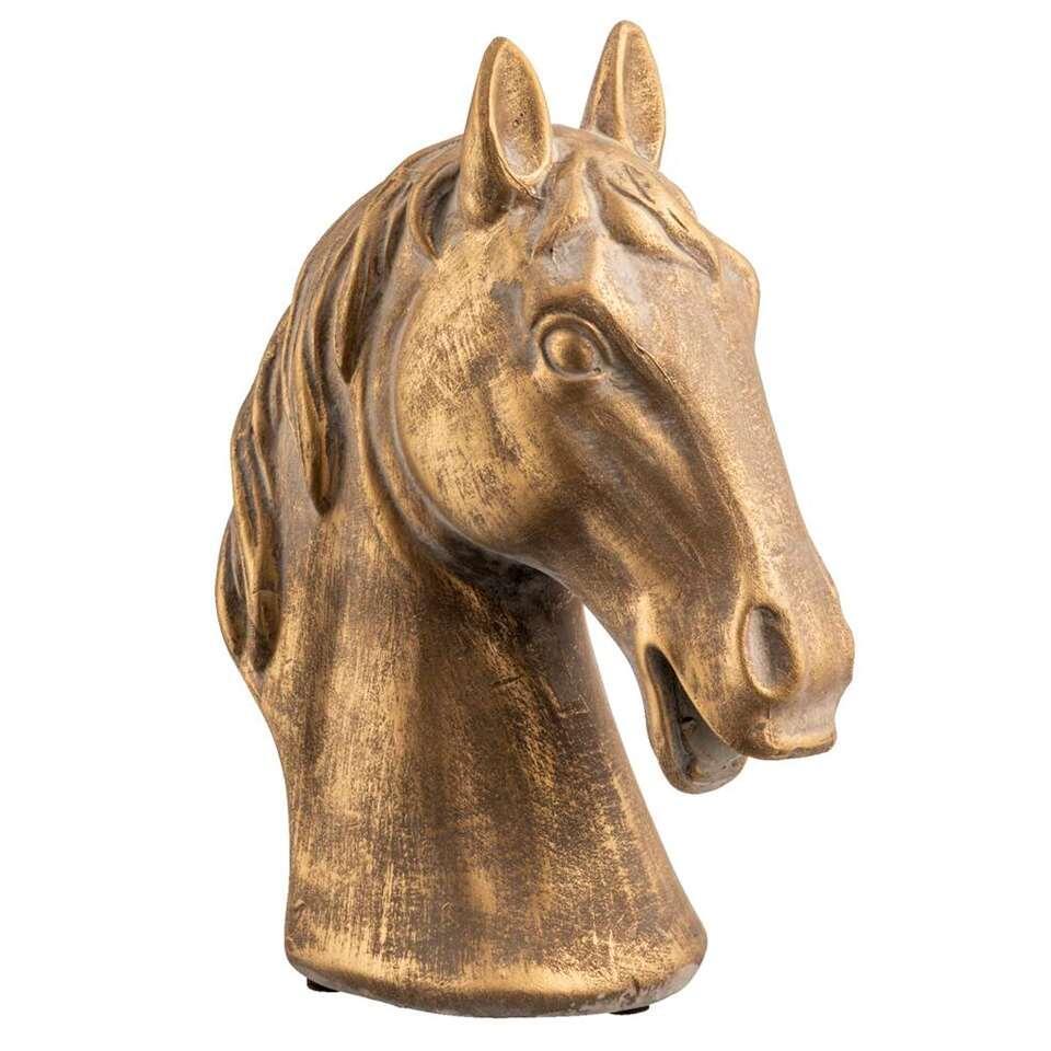 Deco Paardenhoofd - terracotta - 15x7,5x19 cm