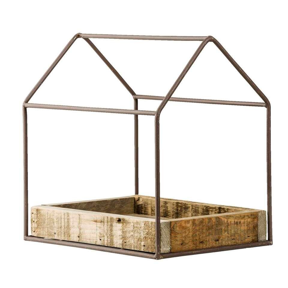 Deco huis Finn - naturel - 29x29x19 cm - Leen Bakker