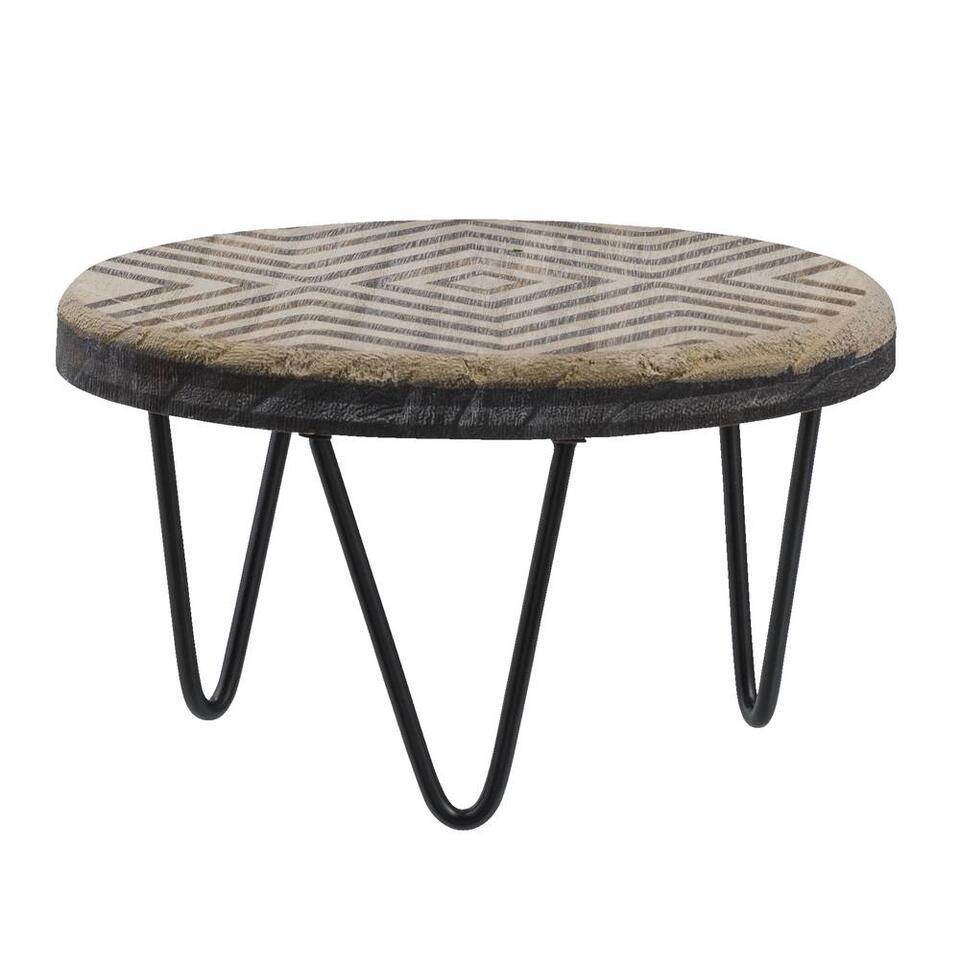 Plantentafel Kristian - grijs - Ø20x11,5 cm - Leen Bakker