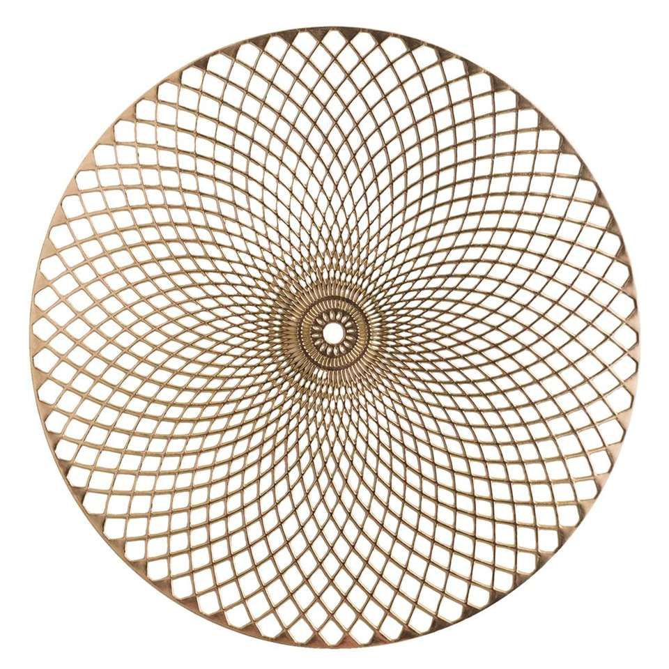 Placemat Christie - goud/leer - 38 cm