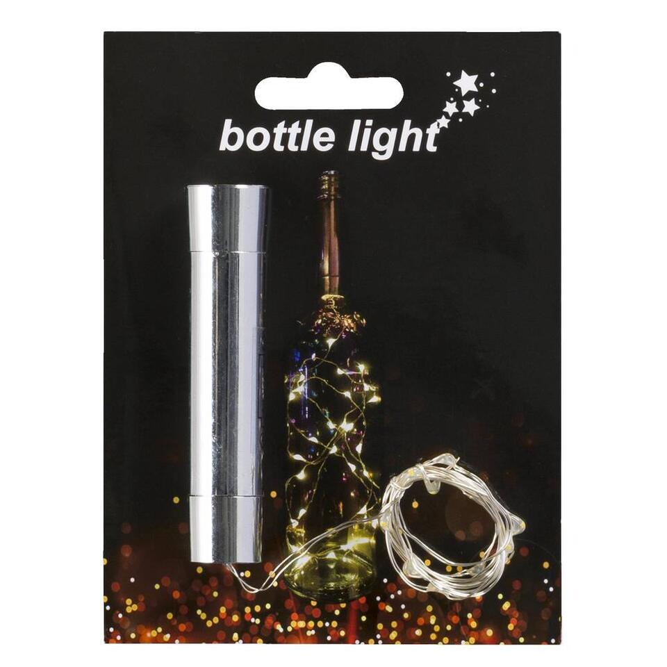 Flesverlichting - zilverkleur - 14,5x14x2,5 cm