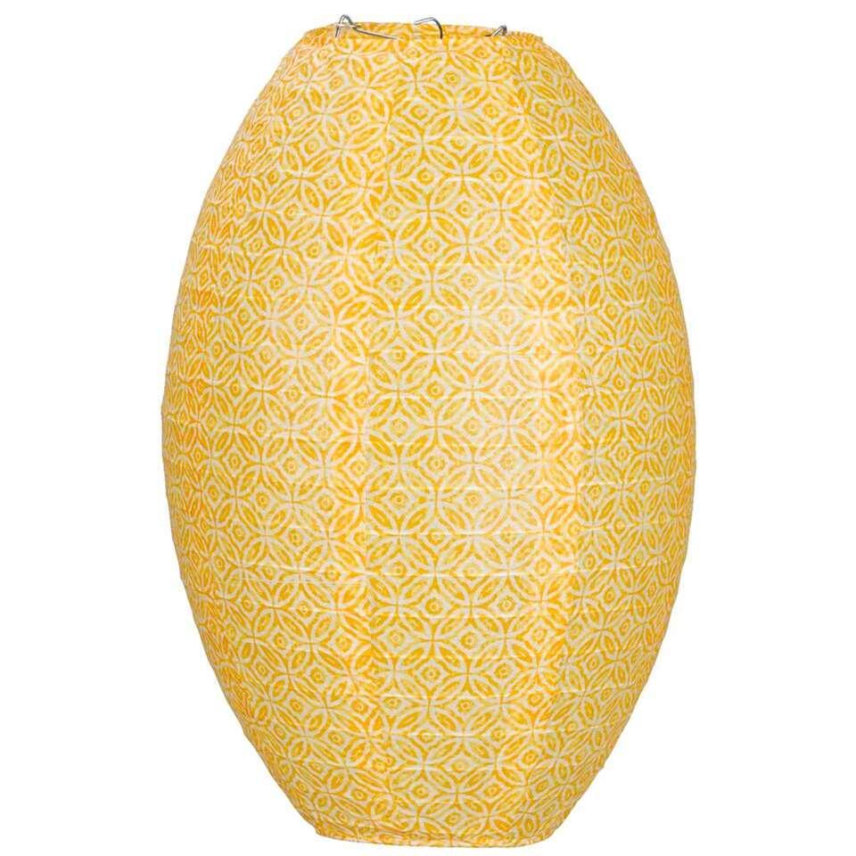 Lampion Okro - Oker - ovaal 36x25 cm