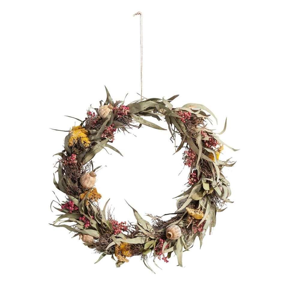 Decoratiering Droogbloemen - naturelkleur - 55 cm