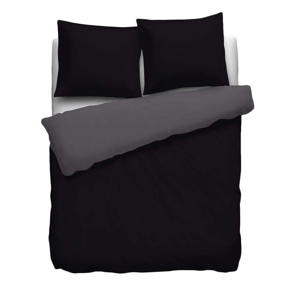 Heckett & Lane dekbedovertrek Royal Cotton - zwart - 140x220 cm - Leen Bakker