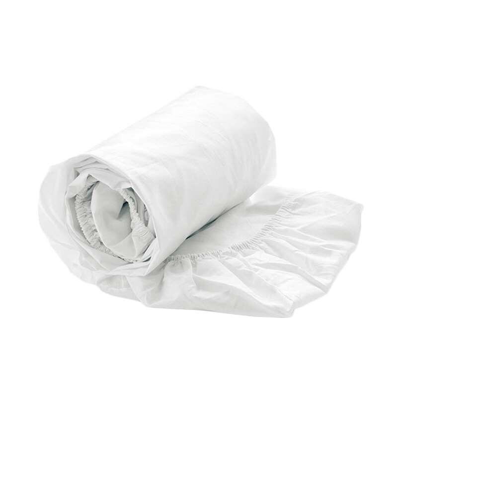 Heckett & Lane hoeslaken - wit -160x200 cm - Leen Bakker