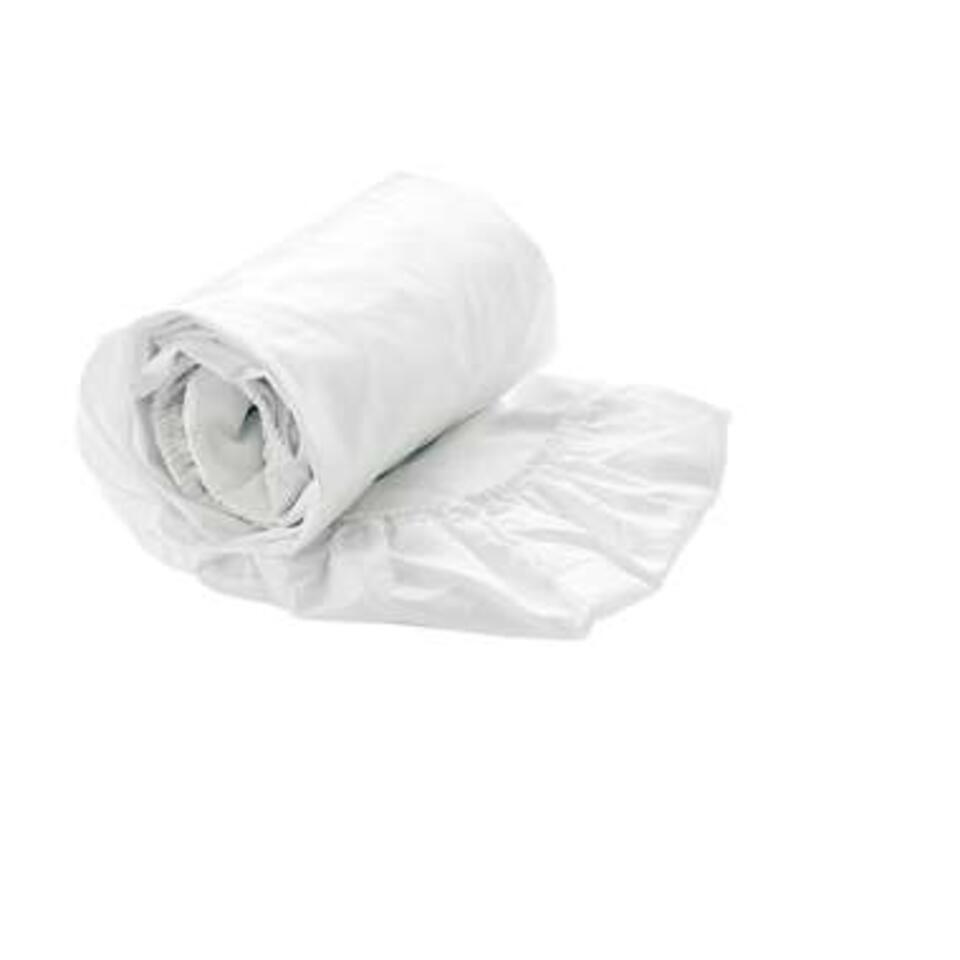 Heckett & Lane hoeslaken - wit - 80x200 cm - Leen Bakker