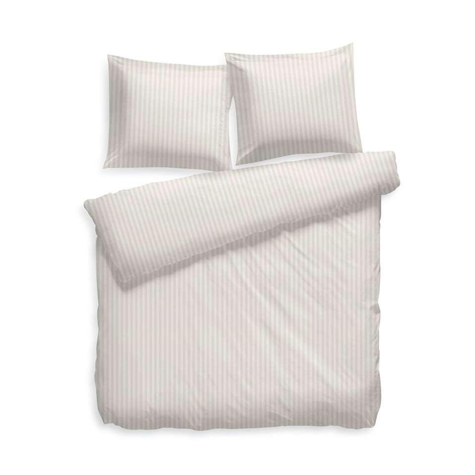 Heckett & Lane dekbedovertrek Uni Stripe - off white - 140x200 cm