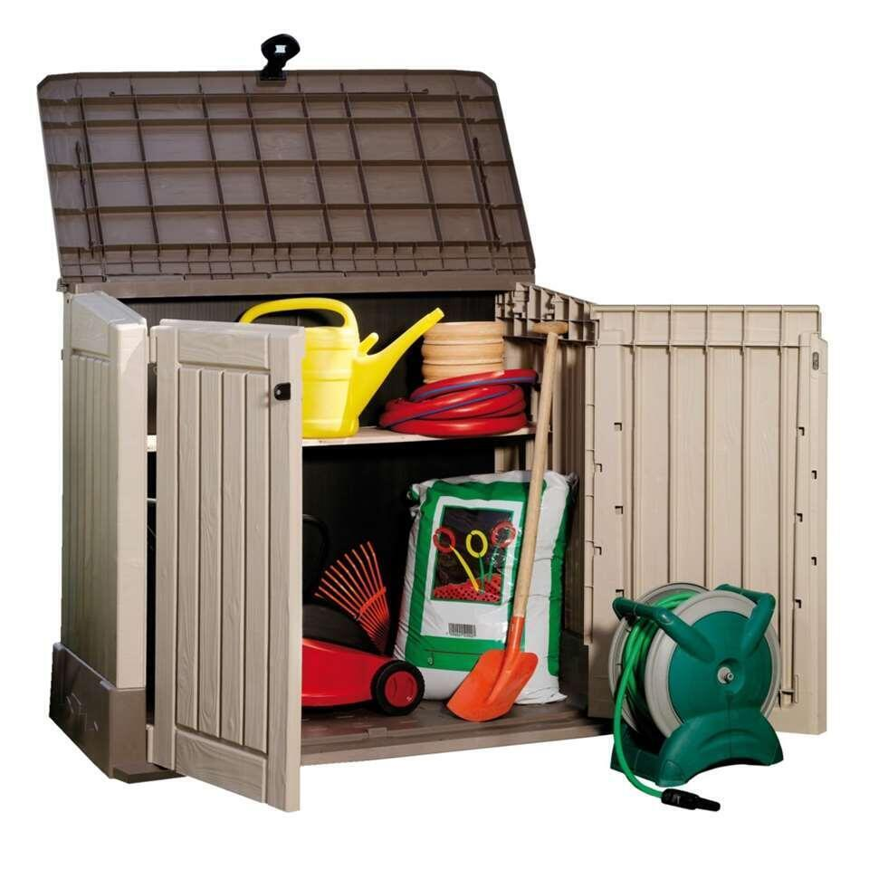 Keter opbergbox Store it out midi - taupe - Leen Bakker