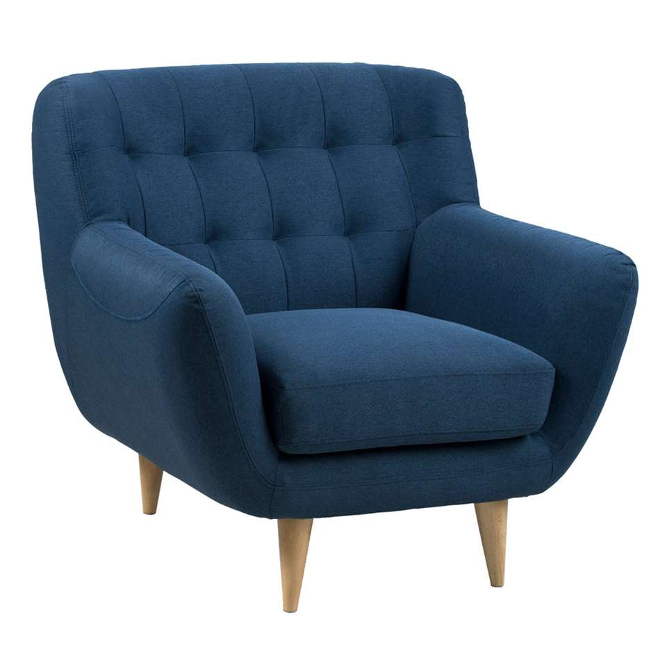 Fauteuil Lillestrom - stof - donkerblauw
