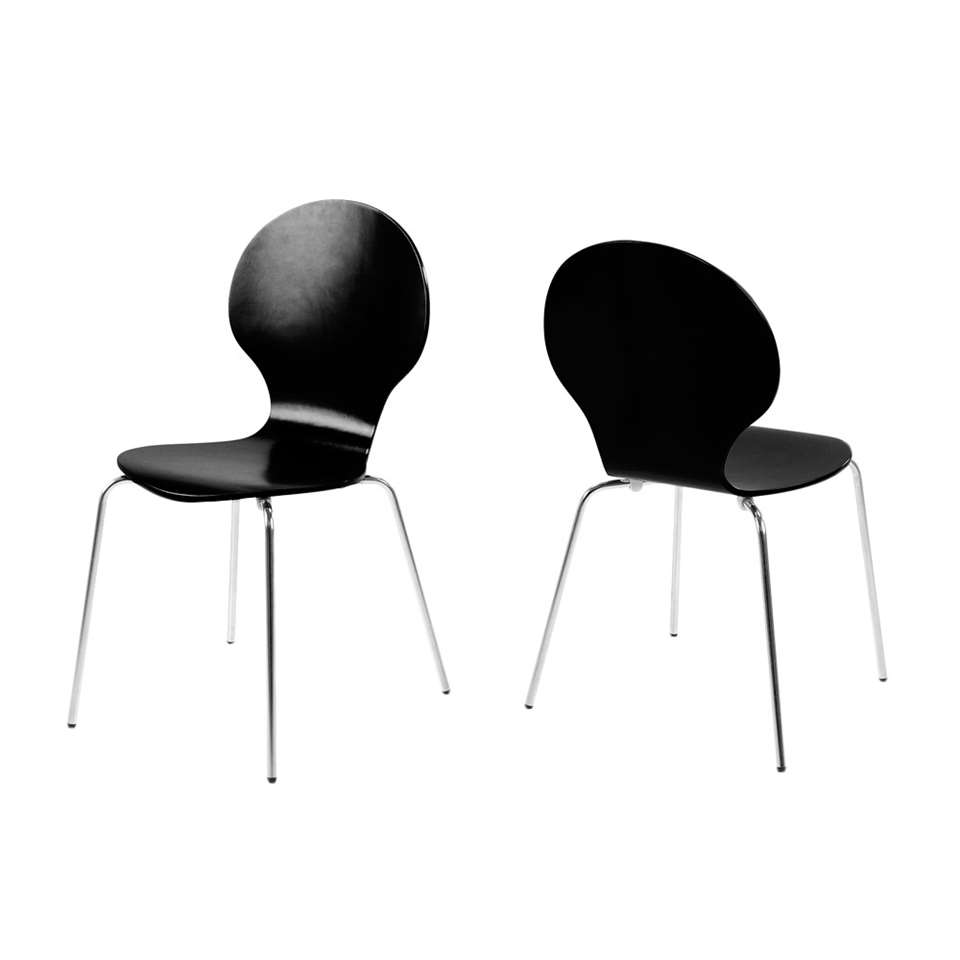 Eetkamerstoel Silkeborg - hout - zwart (4 stuks) - Leen Bakker