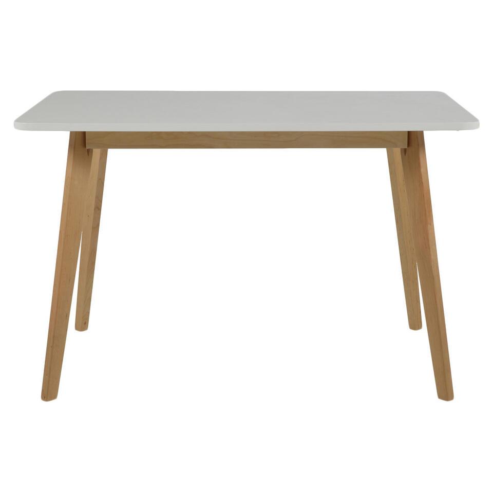 Eetkamertafel Aalborg recht - wit - 75,5x120x80 cm