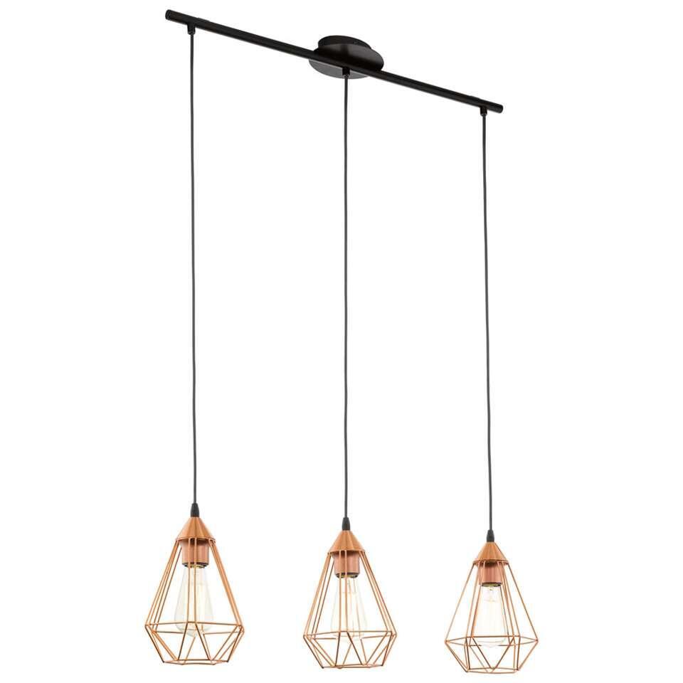 EGLO hanglamp Tarbes 3 - koperkleur - Leen Bakker