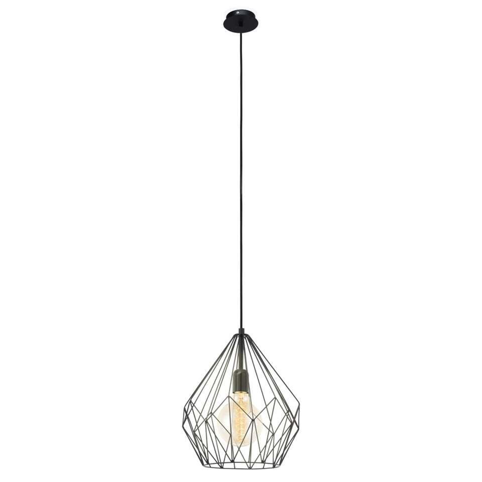 EGLO hanglamp Carlton is een zwarte draadlamp met een elegante vintage look. De lamp is geschikt voor lichtbronnen tot 60 Watt.