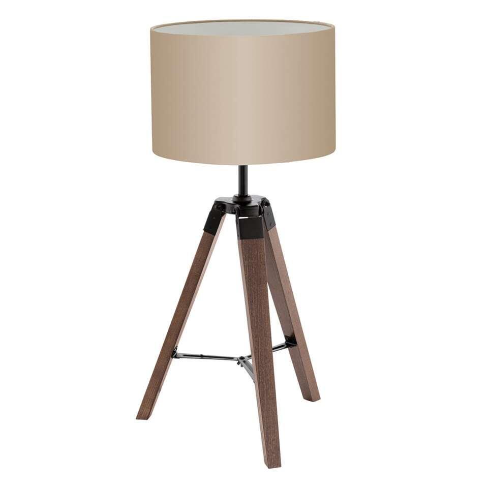 EGLO tafellamp Lantada - noot/taupe - Leen Bakker