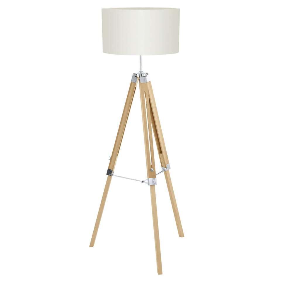 EGLO vloerlamp Lantada - naturel