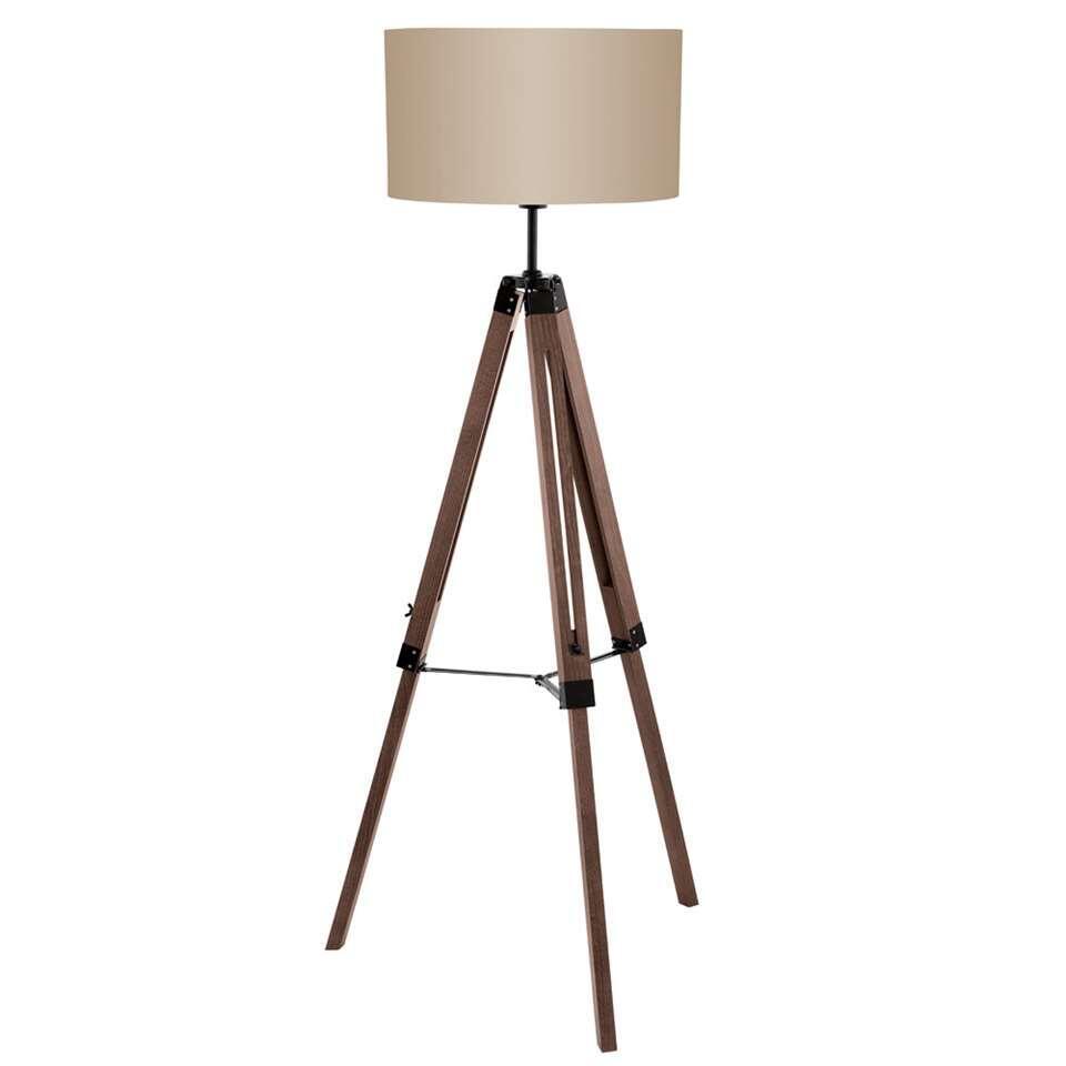 EGLO vloerlamp Lantada - noot/taupe