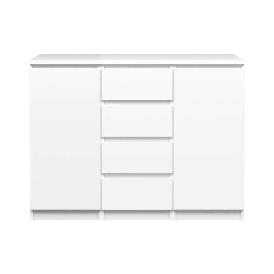 Lade-buffetkast Naia - hoogglans wit - 90,7x120,6x50 cm - Leen Bakker