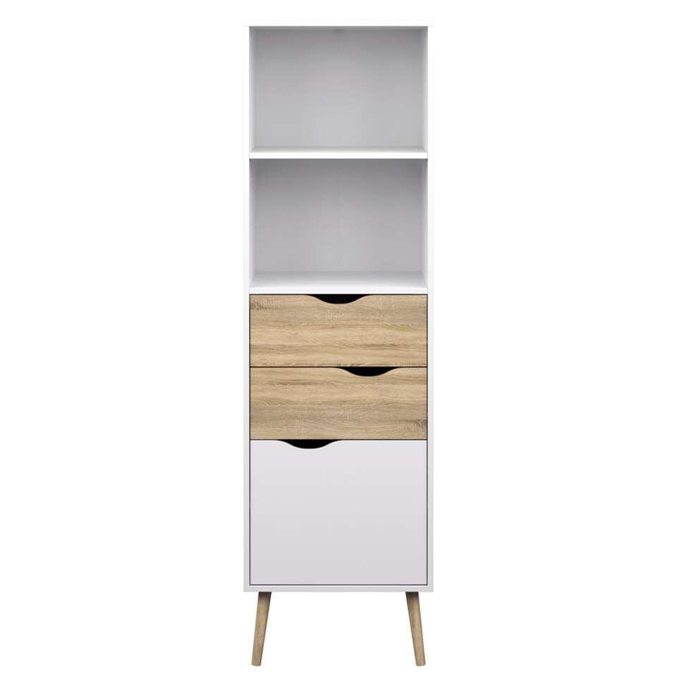 Boekenkast Delta - wit - 171,3x50,1x39 cm - Leen Bakker