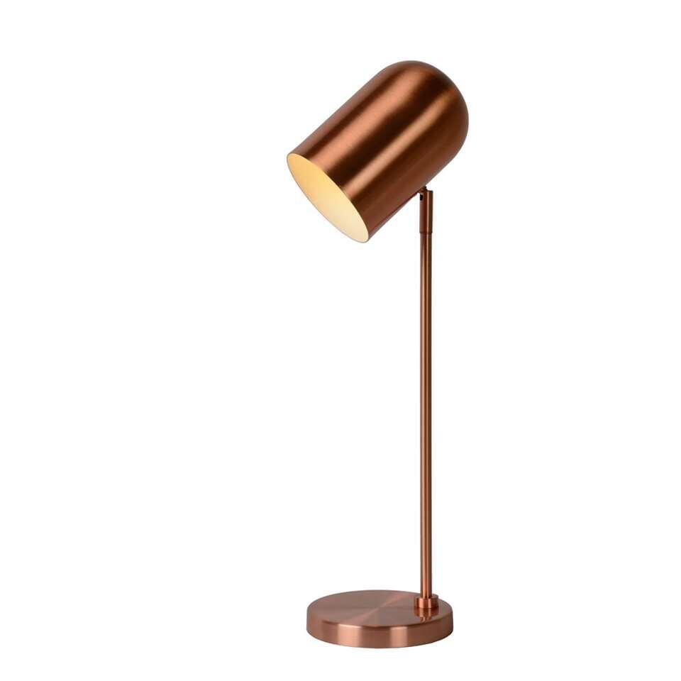 Lucide tafellamp Bliny - koper - Leen Bakker