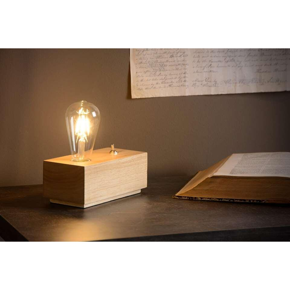 Lucide tafellamp Edison - hout