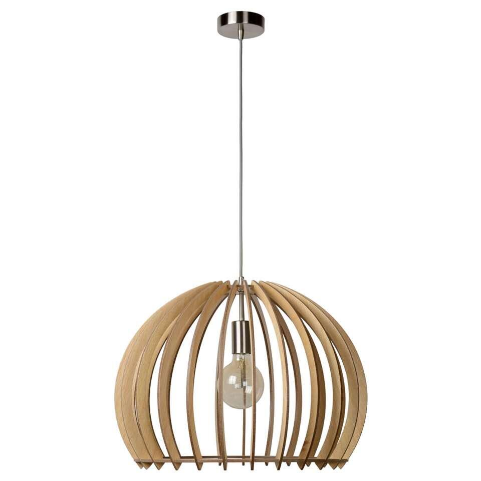lucide hanglamp bounde - Ø50 cm - licht hout
