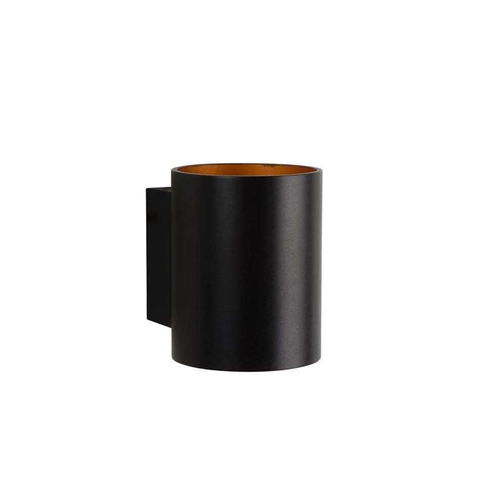 Lucide wandlamp Xera rond - zwart