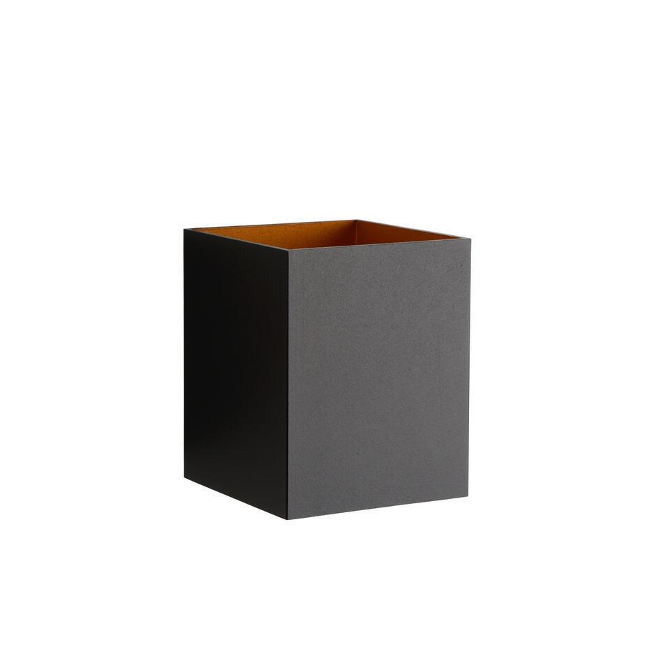 Lucide wandlamp Xera vierkant – zwart – Leen Bakker