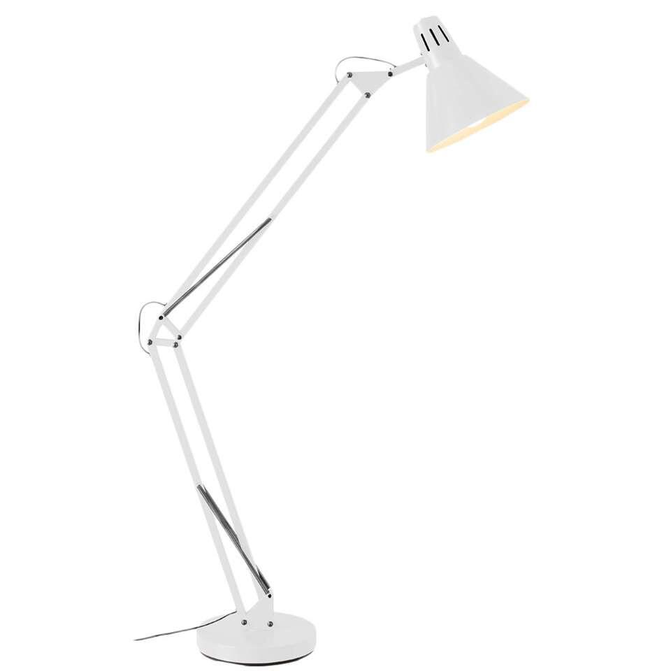 Brilliant vloerlamp Winston - mat wit - Leen Bakker