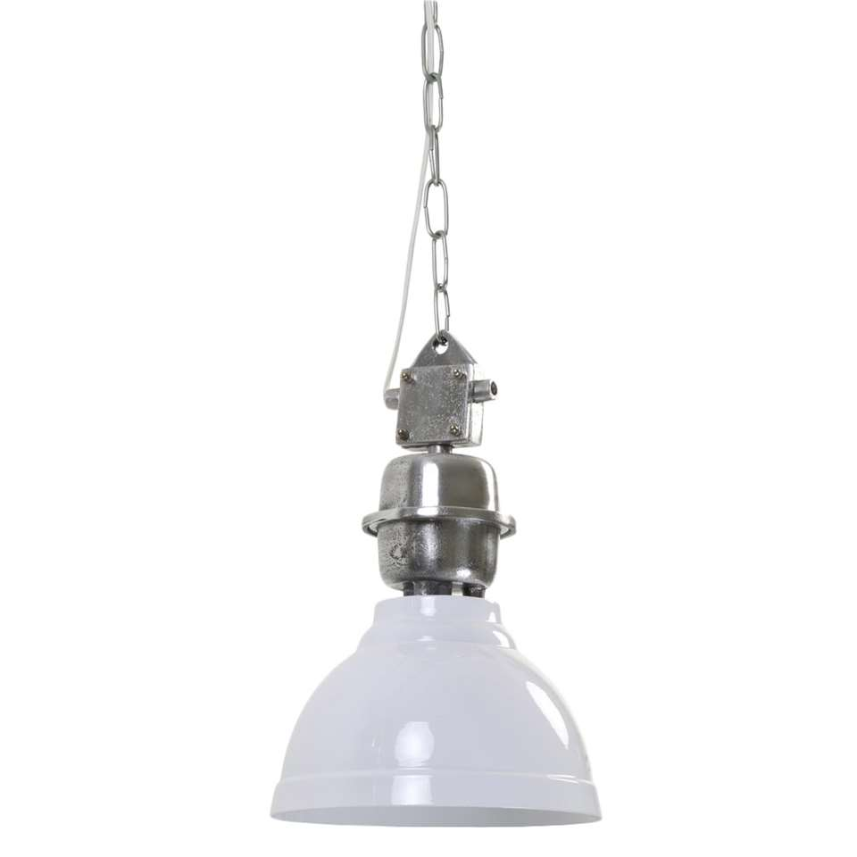 Light & Living hanglamp Clinton - wit - Ø22 cm