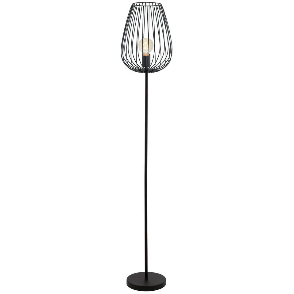 EGLO vloerlamp Newtown – zwart – Leen Bakker