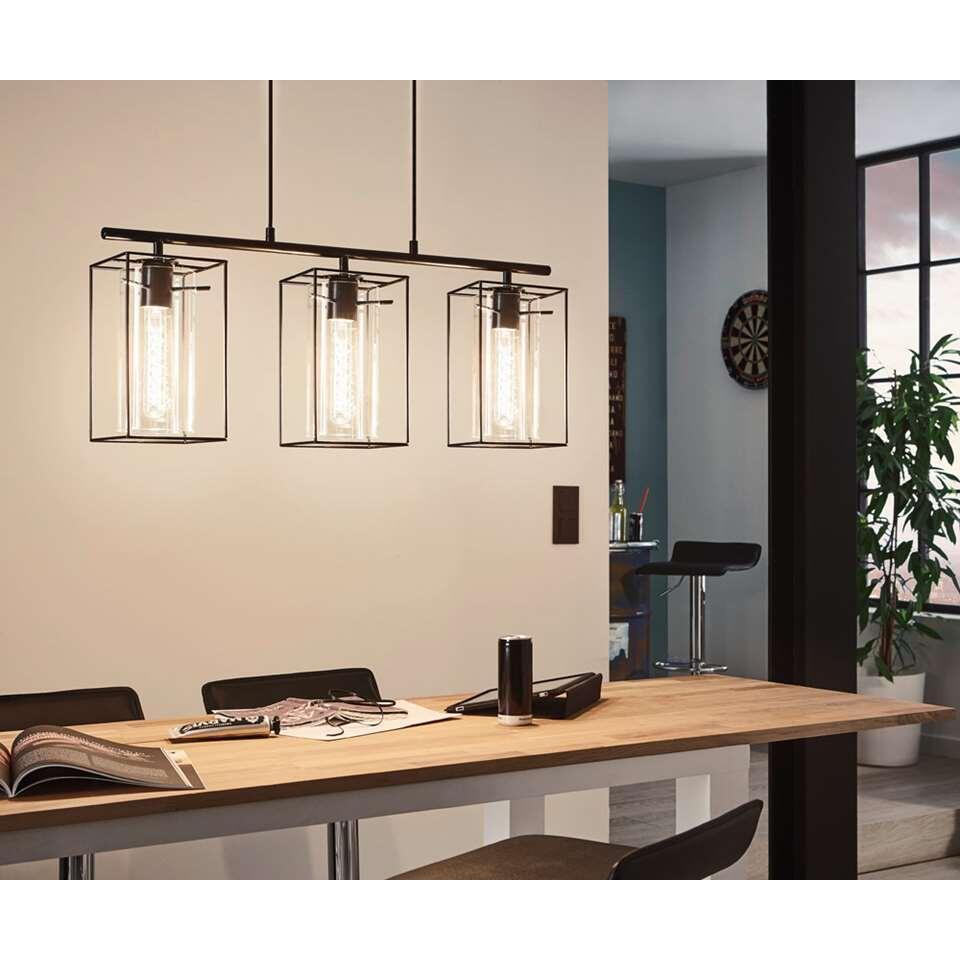 EGLO hanglamp Loncino 3 - zwart