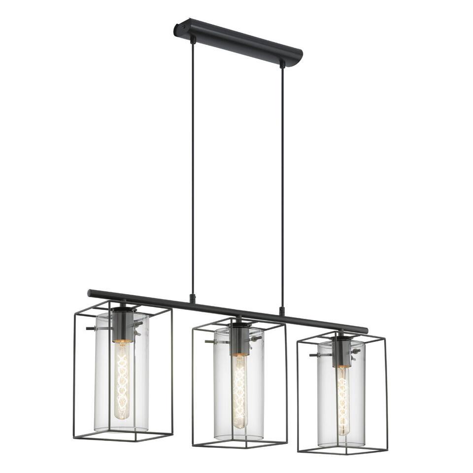 eglo hanglamp loncino 3 zwart