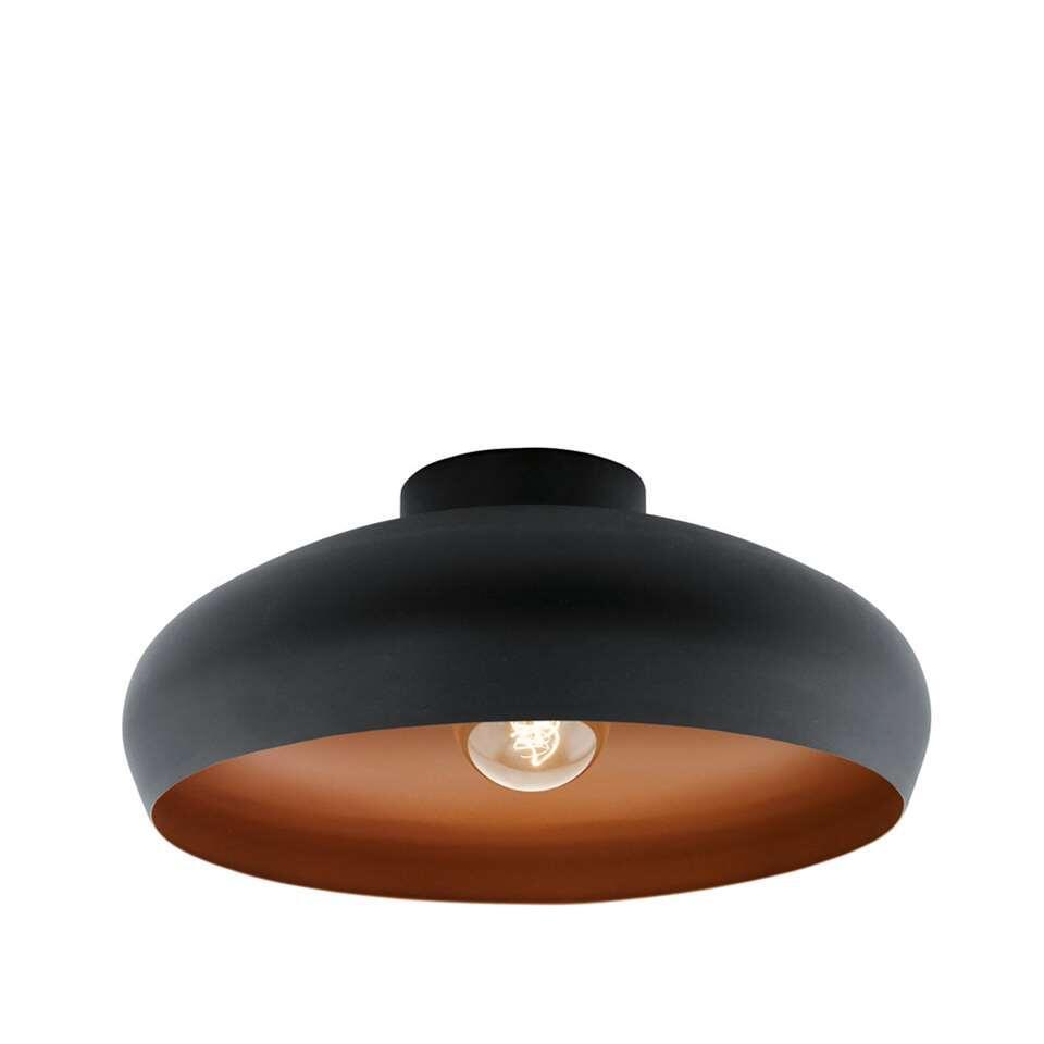 EGLO plafondlamp Mogano - zwart/koper - Leen Bakker