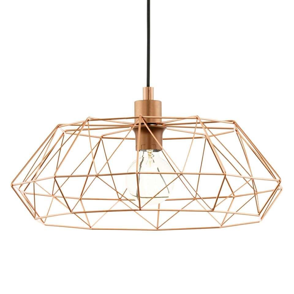 EGLO hanglamp Carlton 2 – koperkleur – Leen Bakker