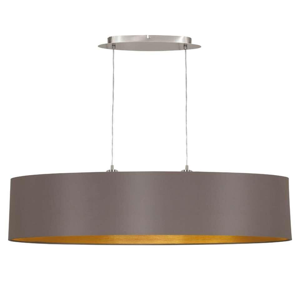 EGLO hanglamp Maserlo ovaal - cappuccinokleur/goudkleur - Leen Bakker
