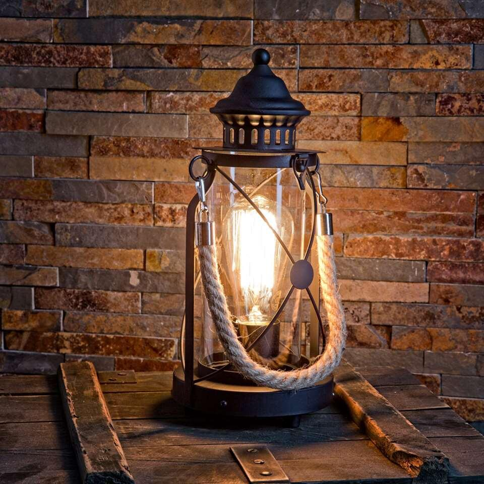 EGLO tafellamp Bradford - zwart - Leen Bakker