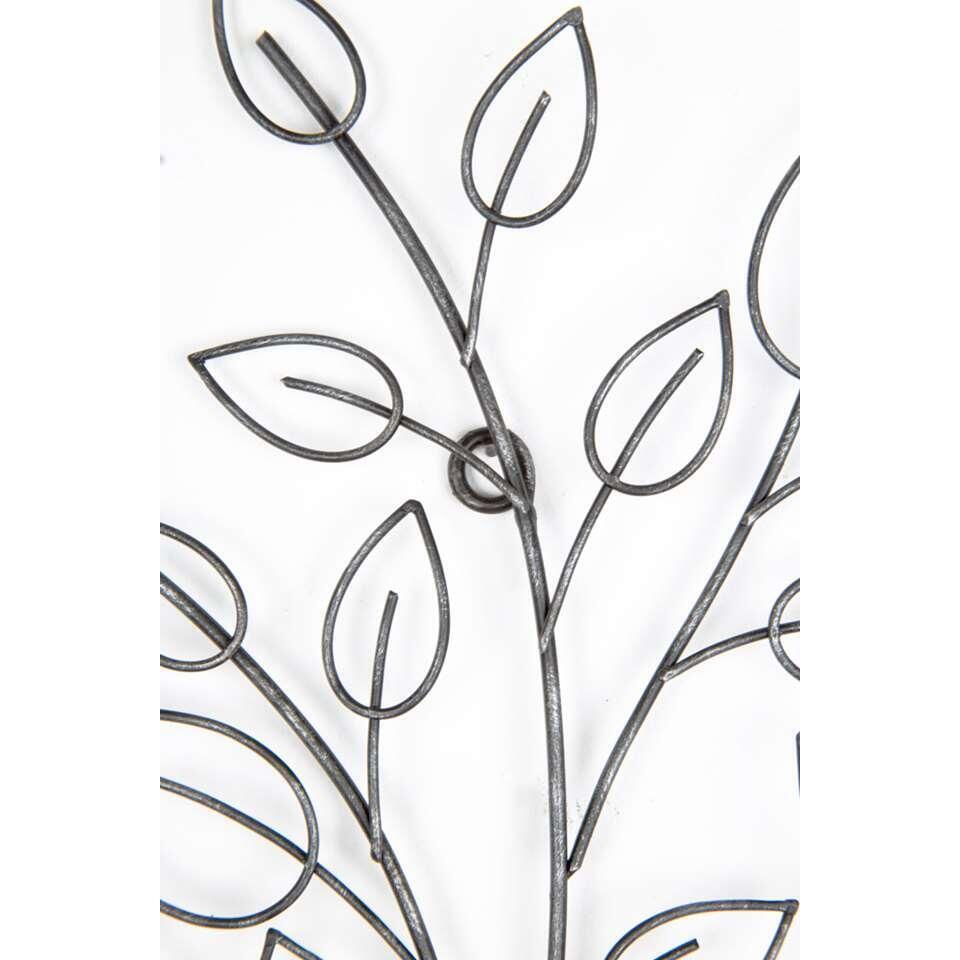 Graham & Brown Metal Art Tree - zwart - 49x60 cm - Leen Bakker