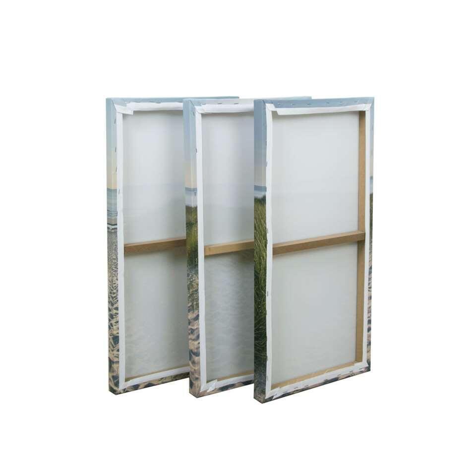 Graham & Brown canvassen set Strandwandeling - groen/blauw - 90x60 cm - Leen Bakker