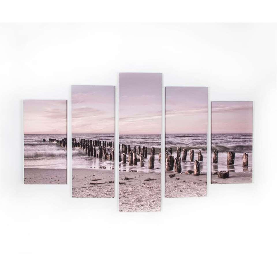 Graham & Brown canvassen set Tranquil Seascape - beige - 100x150 cm - Leen Bakker