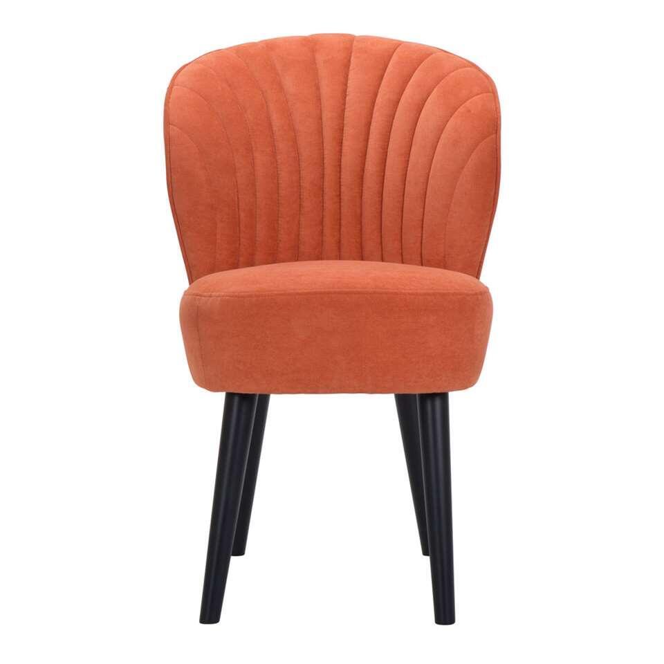 Eetkamerstoel Ventura – stof – oranje – Leen Bakker