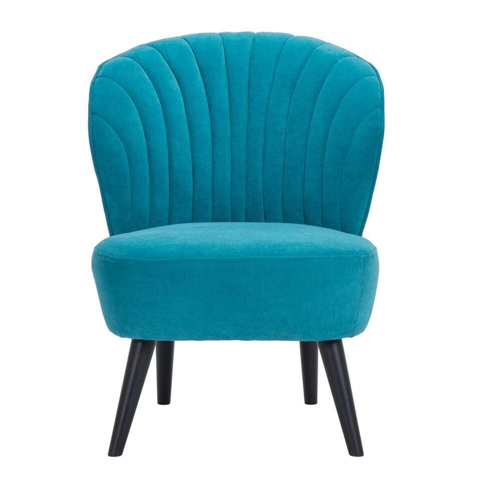 Fauteuil Ventura – stof – turquoise – Leen Bakker