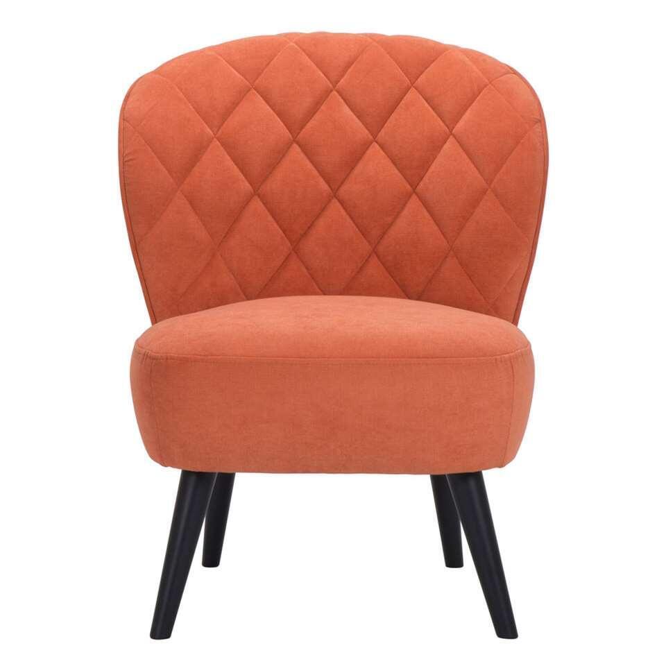 Fauteuil Vita - stof - oranje - Leen Bakker