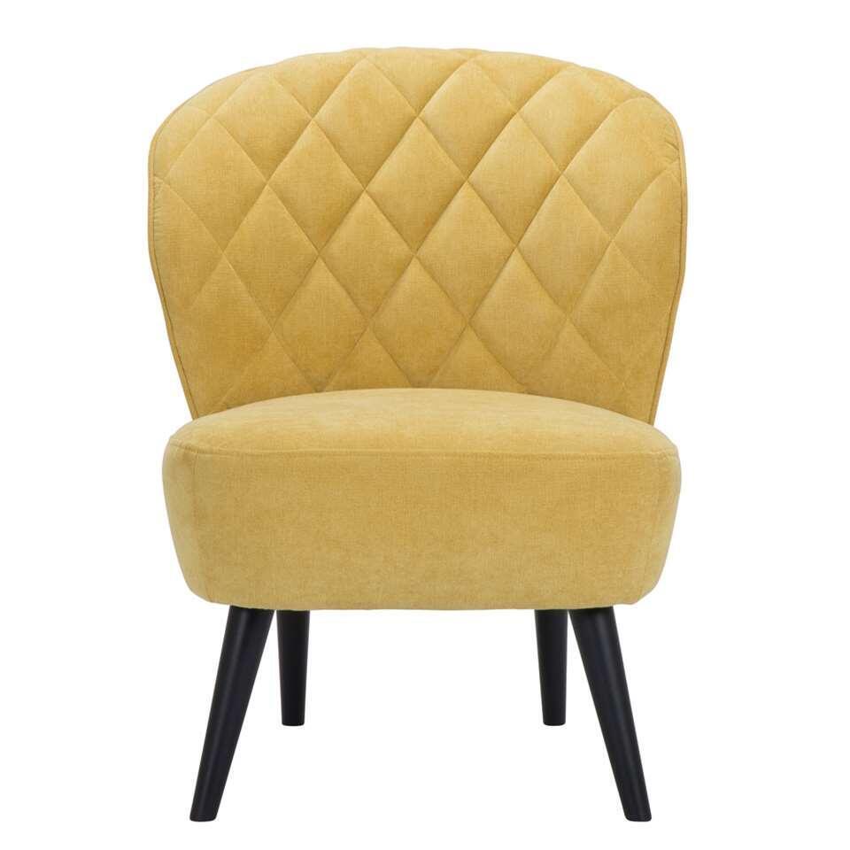 De Vita is een retro look fauteuil die absoluut niet mag ontbreken in je inrichting! Deze mooie vormgegeven fauteuil is uitgevoerd in een fijne, gele Orinoco stof met zwarte poot.