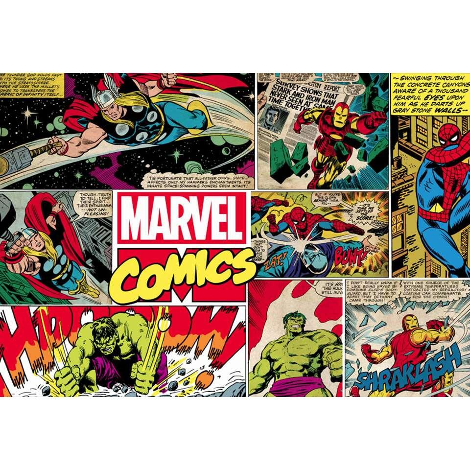 Graham & Brown digitaal behang Marvel - 276x190 cm - Leen Bakker