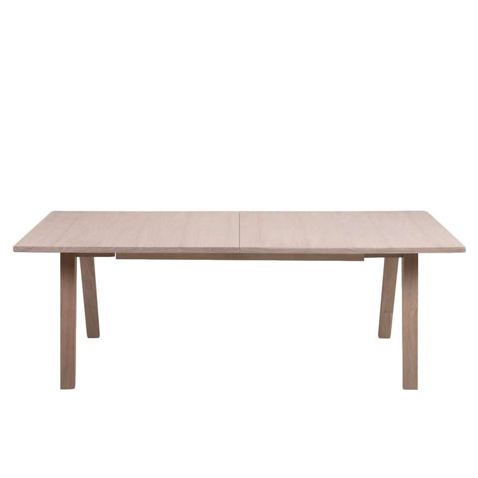 Eetkamertafel Boda - eikenkleur - 100x310x74 cm - Leen Bakker