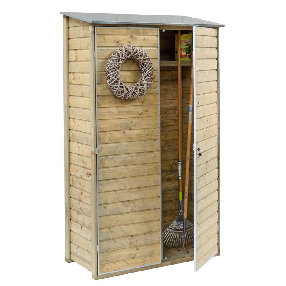 Outdoor Life muurkast - beige - 200x120x60 cm - Leen Bakker