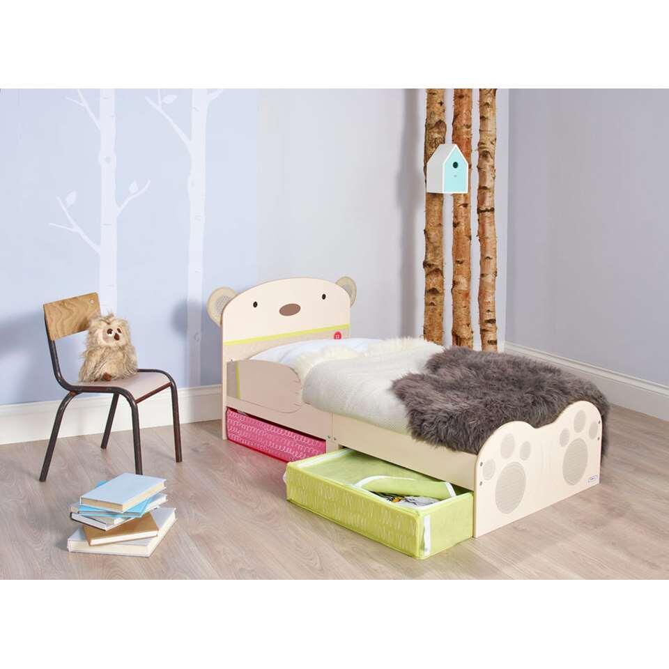 Kinderbed HelloHome BearHug - beige - 59x77x143 cm - Leen Bakker